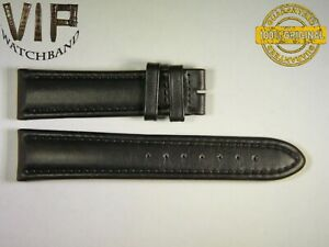 NEW OEM Authentic Longines strap 20 mm Genuine leather black color.