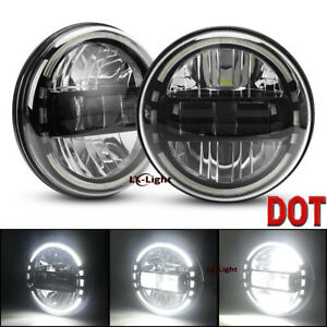 2pc 7Inch Round Led Projector Headlight HIgh/Low Beam Halo DRL for Hummer H1 H2