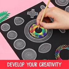 Spirograph Design Set Magic Kids Geometric Drawing Ruler Board Stationery Toy