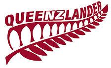 NEW ZEALAND KIWI FERN QUEENSLAND QUEENZLANDER STATE OF ORIGIN MAROON STICKER 2