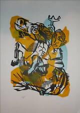 Bernard Lorjou Gravure sur bois signée numérotée Blois