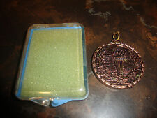 """Olympic Torch---Bronze Medallion---With Case---1 1/2"""""""