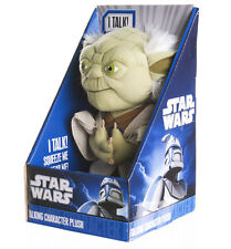 "STAR WARS YODA 9"" TALKING PLUSH - 1 PHRASE ONLY - BRAND NEW GREAT GIFT"