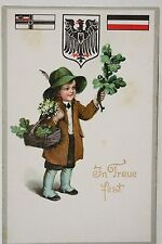 16027 AK Kind Reichsadler Kriegsflagge 1. WK 1916 PC child with oak WWI