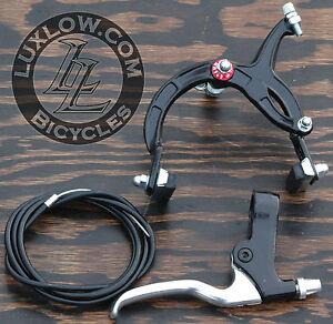 Black Cruiser Bike Rear Brake Lever Cable Caliper OS BMX Vintage Schwinn Bicycle