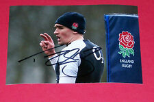 TOBY alluvione ENGLAND RUGBY Hand Signed Autograph Foto