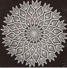 "Vintage Crochet PATTERN to make Pineapple Design Doily Centerpiece Mat 18"""