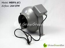 "Hydroponics 6"" Flange InLine Circular Duct Exhaust Fan by GrowGreenBox"