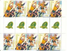 Stamps Australia 1999 rugby football commemorative set of 5 gutter strip of 10