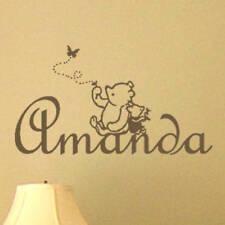 Classic Winnie the Pooh & Piglet PERSONALIZED Vinyl Wall Decal Nursery Wall Art