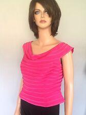 SJ Signaure Collection Top Fuschia Hot Pink Size 14 Designer  Fashion Canada