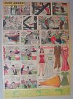 Jane Arden Sunday with Large Uncut Paper Doll from 10/27/1940 Tabloid Size Page!