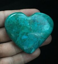 Crysocola Natural Stone  Heart From Congo (88gm)
