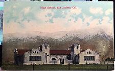 SAN JACINTO, CALIFORNIA, Post Card 1905-15 Riverside County,  HIGH SCHOOL