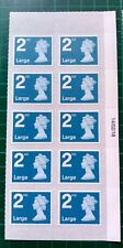 2018 M18L Walsall 2nd Large 14/02/18 Date Block of 10 SBP2i