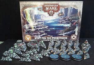 Dystopian Wars: Hunt for the Prometheus well painted 2 Player Starter Set & Glue