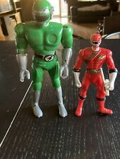 VINTAGE POWER RANGERS ACTION FIGURES 2001 BANDAI mighty morphin Red 1998 Green