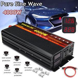 Spannungswandler 4000w Reiner Sinus Wechselrichter Solar Inverter 12V auf 220V