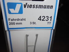 Viessmann 4231 voie TT , Caténaire 200 mm, 3 pièces # Neuf Emballage d'ORIGINE #