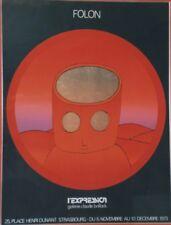 """""""FOLON 1973 / L'EXPRESSION """"Affiche sérigraphie originale encadrée"""
