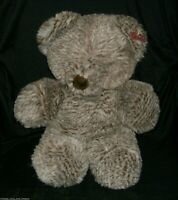 "16"" VINTAGE DAN DEE SPECIAL TOUGH BROWN TEDDY BEAR STUFFED ANIMAL PLUSH TOY BIG"