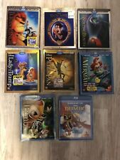Disney Blu-ray DVD RARE - Lenticular Covers 8 Movies Lion King, Sleeping Beauty,