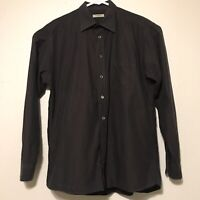 Burberry London Chameleon Brown Long Sleeve Shirt Mens Large Circles  Patterns