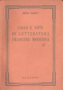 Saggi e note di letteratura francese moderna.