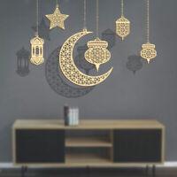 Ramadan Lantern Eid Mubarak Ornament Muslim Party Hanging Supply Wooden Decors