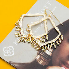 Kendra Scott Lacy Dangle Charm Earrings in Gold Plated New with bag