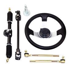 Steering Wheel Assembly Set for 110cc Go Kart Tie Rod & Steering Rack & shaft