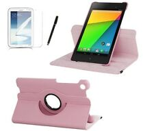 Schutzhülle f Asus Google Nexus 7 2013 2 Tasche Case Leder-Imitat rosa pink