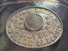 New ListingSunset Trails Silver Dollar Saloon Sterling Buckle.