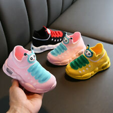 Girl Boy Sport Stretch Mesh Soft Shoes Cartoon Infant Kids Baby Running Sneakers