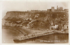 Yorkshire Postcard - East Side and Old Harbour - Whitby - RP - Ref TZ6178