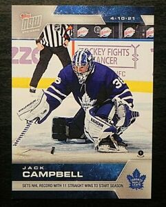 2020-21 20/21 TOPPS NOW NHL Stickers #112 Jack Campbell Toronto Maple Leafs