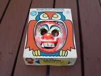 Vintage Ben Cooper Halloween Clown Mask & Masquerade Costume Original Box