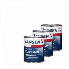 3 x Jansen Flüssig-Kunststoff weiß 0,75l - Flüssigkunststoff