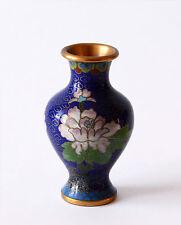 Vaso Antico Cloisonnè Metallo Cinese Oriental Ancient Antique Vase H.10 cm