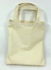 """Reusable Canvas Tote Bag Natural Cotton Grocery Shopping Bags 15""""x15""""  USA NEW"""