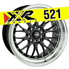 XXR 521 18x10 5-114.3/5-120 +25 Gloss Black Wheels (Set of 4) Classic Mesh