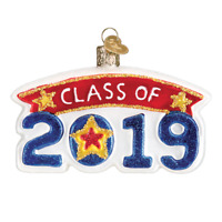 """""""Class of 2019"""" (36247)X Old World Christmas Ornament w/ OWC Box"""