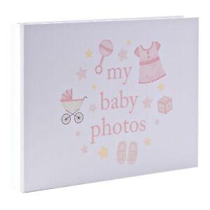 "My Baby Photo's Photo Album 7""x5"" - Stars / Toys Design - Pink"