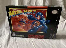 MEGA MAN 7 Custom Game Box + Box Protector Only For Super SNES