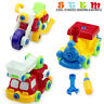 Take Apart Toys Set Toddlers 3-in-1 Make Your Own Firefighter Train Motorbike