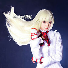 80CM Long Light Blonde Straight Hair for Tekken Lily Anime Women Cosplay Wig