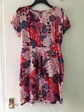 Ladies Dress Size 18, Eu 46, Everyday Casual Beach Party, Multi, Peacocks