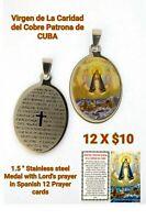 Catholic Religious medal CARIDAD del cobre Medalla Mary Jesus CUBA Bulk Lot  12