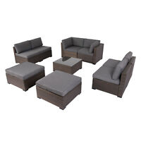 2-9PC Rattan Wicker Sofa Set Sectional Couch Cushioned Furniture Patio Outdoor