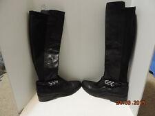 Women's Donald J. Pliner Boot Black Slip on 3 buckles Size9.5 MSRP$398.00